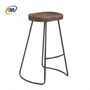 China Metal Wood Rustic Bar Stool on sale