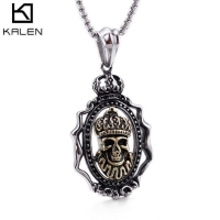 China Halloween Jewelry Skull Necklace Pendant on sale