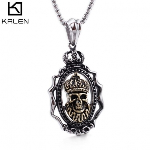 China Halloween Jewelry Skull Necklace Pendant on sale