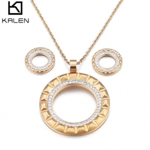 China Golden Plated Jewelry Sets For Women Luxury Set on sale