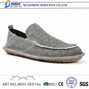 China White with blue Canvas Pumps Slip on Shoes for Men on sale