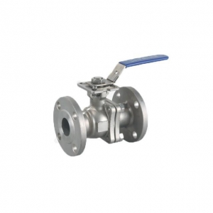 China Stainless Steel 2PCS Flanged Ball Valve on sale