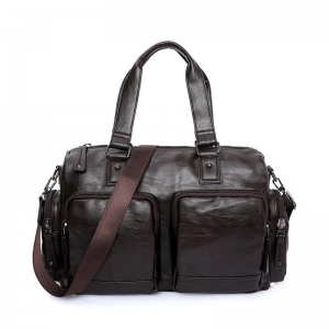 China China Dual Function PU Travel Practical Men Duffel Bag on sale