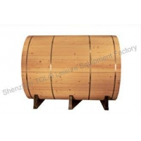 China Outdoor Garden Sauna Cabins , Electric Wood 4 Person Barrel Sauna Room on sale