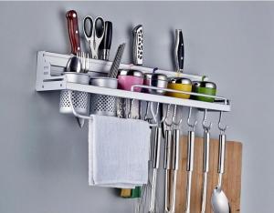 China wall mounted aluminum kitchen corner shelf, kitchen rack on sale