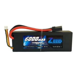 China Zeee 6000mAh 80C 7.4V 2S Lipo Battery Pack with Traxxas Plug on sale