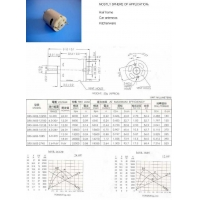 China Permanent Magnet DC Motors P365 on sale
