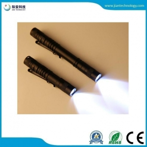 China JFF64 Protable AA battery life use mini Flashlight with clip on sale