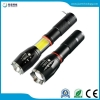 China NEW! CREE XML-T6 torch side light COB design zoomable flashlight with 18650 battery for sale