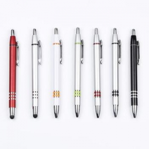 China Top quality metallic paint ball pen with metal clip for promotion plastic pen on sale