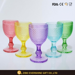 China Pineapple Shape Goblet Wine Glass on sale
