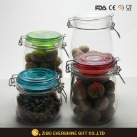 China Glass Food Storage Jar With Lid on sale