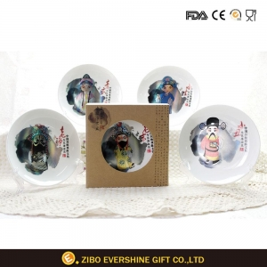 China Ceramic Plates With Chinese Culture Opera on sale