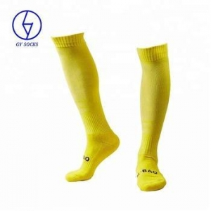 China Wholesale men cotton knee high football socks on sale