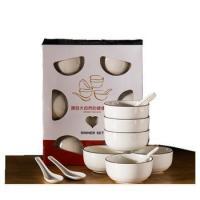 12 pcs porcelain dinnerset 6 pcs ceramic bowl 6 pcs spoon ceramic dinner sets