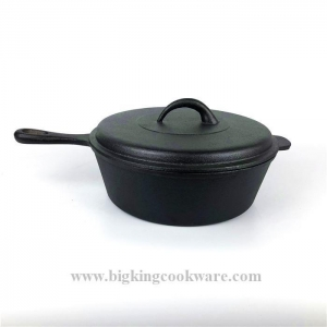 China 25CM Pre-seasoned Cast Iron Cookware Chicken Fryer Pan on sale