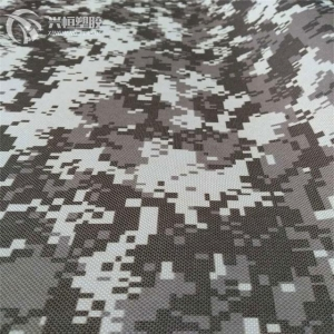 China camouflage printing design 600d oxford fabric with pvc coated on sale