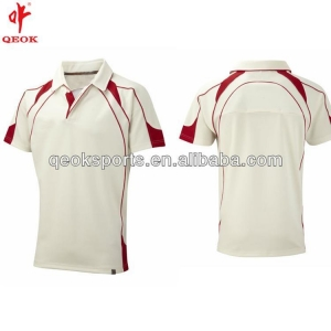 China New cricket polo shirt design, white ladies cricket jersey on sale