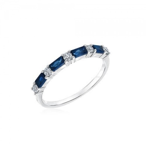 China STERLING SILVER RING WITH BLUE GEMSTONE on sale