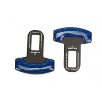 China Car-Styling Carbon Fiber Safety Seat Belt Buckle Clip 2 PCS/SET (Blue) on sale