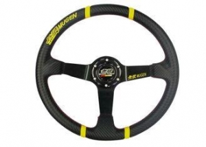 China 3 Inch Diameter Race Car Steering Wheel , Leather Steering Wheel Cover on sale