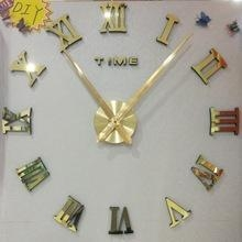 China Hot selling modern decoration kids DIY mirror wall clock on sale