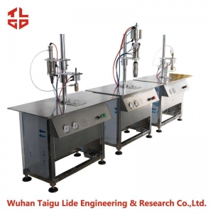 China Semi Automatic Aerosol Filling Machine For Hair Spray Can , Aerosol Gas Filling Machine on sale