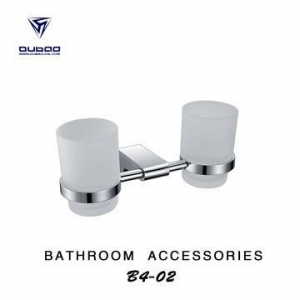 China Bathroom Accessories Dual Cup Chrome Tumbler Holder on sale