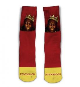 China Biggie Smalls Custom Made Socks on sale