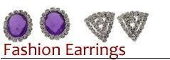 China Wholesale Stainless Steel cubic zirconia stud earrings amethyst on sale