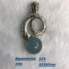 China Sterling Silver Pearl Necklace Aquamarine Pendant for sale