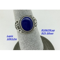 Sterling Silver Pearl Necklace Lapis Ring