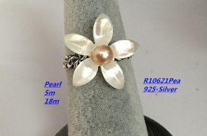 China Sterling Silver Pearl Necklace Pearl Ring on sale