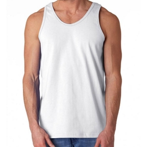 China Wholesale Mens Blank Tank Top Vest Men White Tank Top Cotton on sale