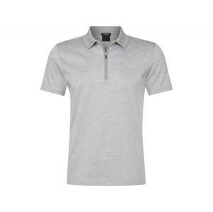 China Custom made Polo Zip Men Golf Polo Shirt 100% Cotton Plain on sale