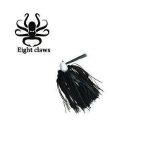 China Eight Claws Lead jig head PVC skirts fishing lure Artificial Rubber jig fishing bait on sale