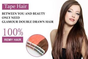 China 10a double drawn remy hairs tape extensions 18 on sale