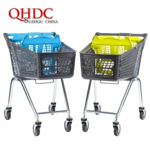 China Supermarket Shopping Cart Plastic Trolley with child seat JHD-S-P on sale