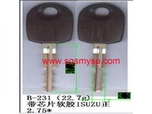 China Suzuki key shell straight key blank with blade on sale