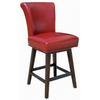 Red Swivel Kitchen Counter Stool R-74926