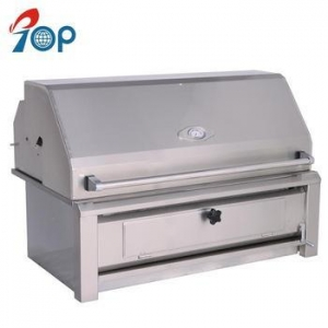 China Deluxe Large Built-in Stainless Steel BBQ Charcoal Grill on sale