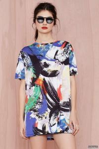China Dress Atmosphere Knit women designer one piece dress colorfull ski on sale