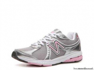 China Sale United Kingdom Womens Athletic New Balance Komen Edition Walking Shoe Grey Pink Silver White on sale