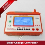 2016 New Design with big display screen 12V/24V auto 30A PWM Solar Charge Controller