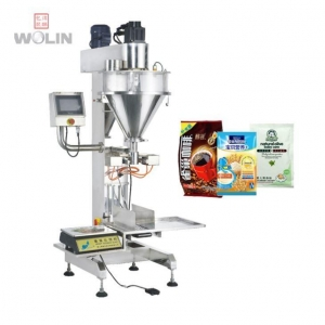 China Semi-auto Auger Filler with Bag Clamp for Yellow Sugar on sale