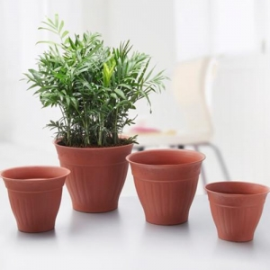 China Round Plastic Planting Pot Sets Large Size wholesale