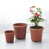 China Round Faux Terracotta Flower Pot for sale