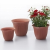 China Round Terracotta Flower Pot Sets for sale