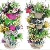 China colorful virgin pp tower pots for plants for sale