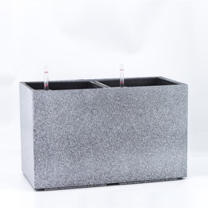 China Cement color combined rectangular flower pot on sale